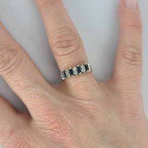 Butler Gold Tone Blue Stone Ring Size 7
